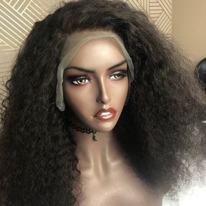 Deep wave curly wig unit